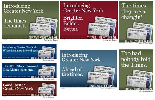 The 8 Wall Street Journal Ads Taking Aim at the New York Times