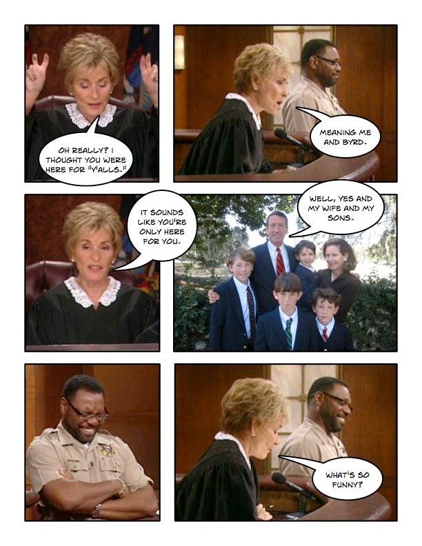 Comic Confrontations: Judge Judy Vs. Mark Sanford