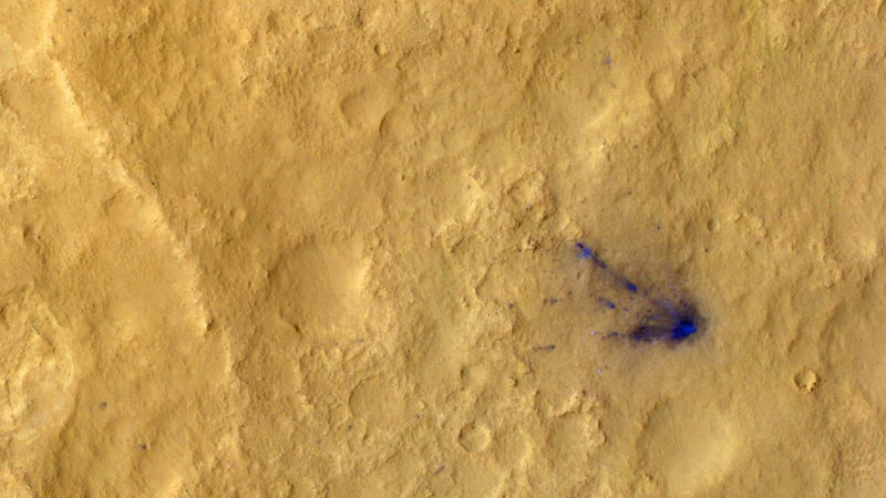 This is all the beautiful space litter left on Mars by NASA's Curiosity rover