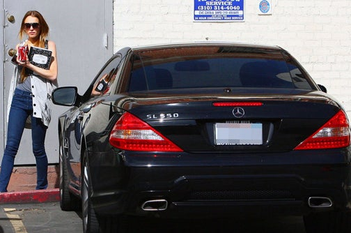 Lindsay Lohan Trades Down To A Mercedes SL 550