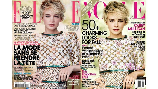 Why Is Carey Mulligan's Vogue Cover On The New Issue Of French Elle?