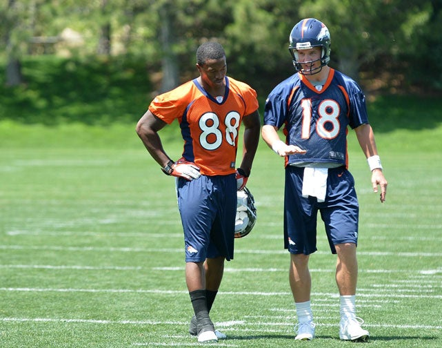 Now That Peyton Manning's In Denver, Broncos Receivers Actually Have To Run Routes