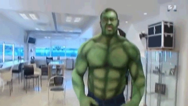 When The Mountain Dresses As The Hulk, Small Children Cry