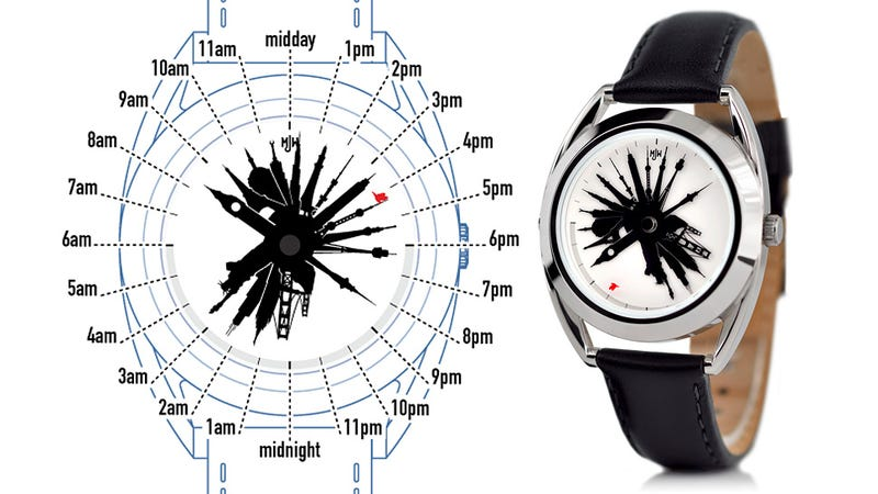Time Traveler Watch Uses Famous Landmarks To Mark the Hour