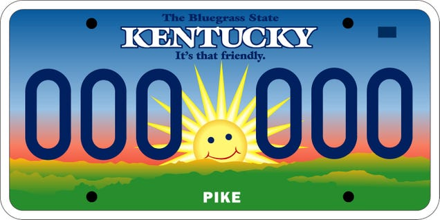 Ky Classic Car License Plate