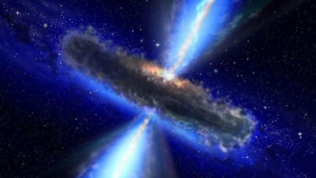 Ancient black hole contains 100,000 Suns worth of water