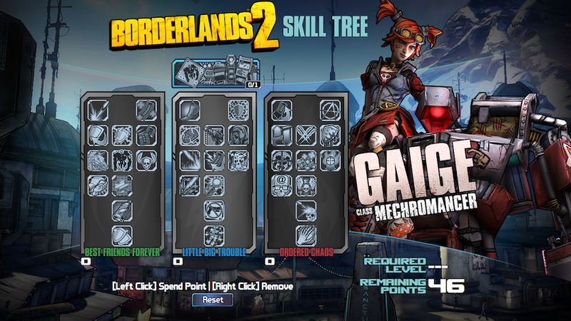 Borderlands 2's Mechromancer Class Skill Tree Is Now Available For You To Tinker With