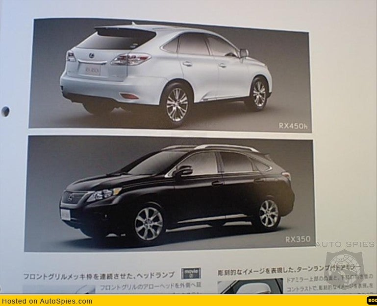 Brochure Scans Reveal 2010 Lexus RX350 And RX450h Ahead Of Schedule