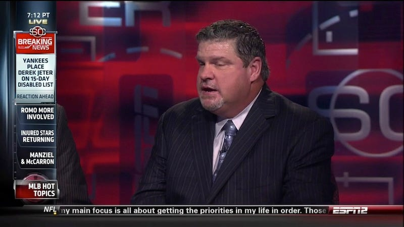 Won't Someone At ESPN Get John Kruk A Towel?