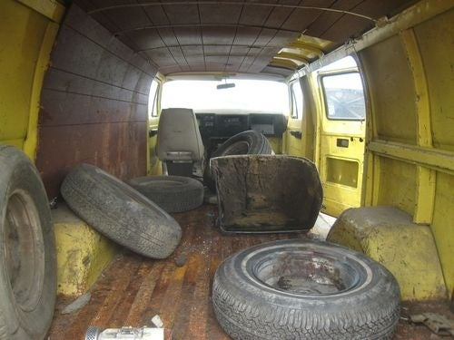 1973 Dodge Tradesman Van Down On The Junkyard