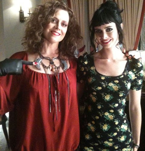 First image of Sigourney Weaver as an evil vampire queen