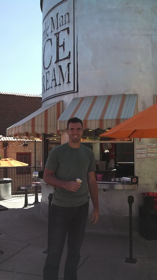 Here's Joe Flacco Enjoying Some Ice Cream In Denver