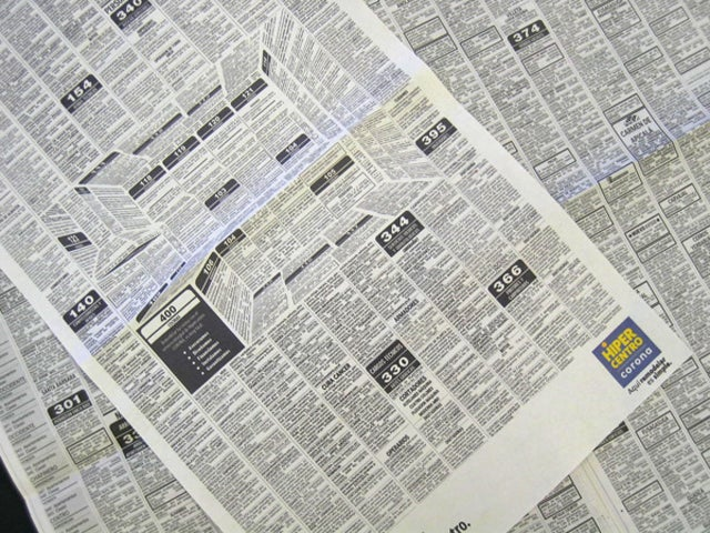 This Clever Newspaper Ad Hides a 3D Kitchen in the Classifieds
