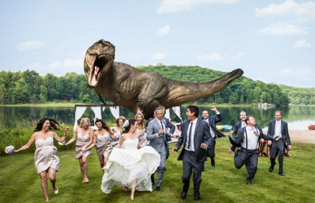 Jeff Goldblum Starred in a Couple's Jurassic Park Wedding Photo