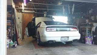 Sitting in the garage, car on.......