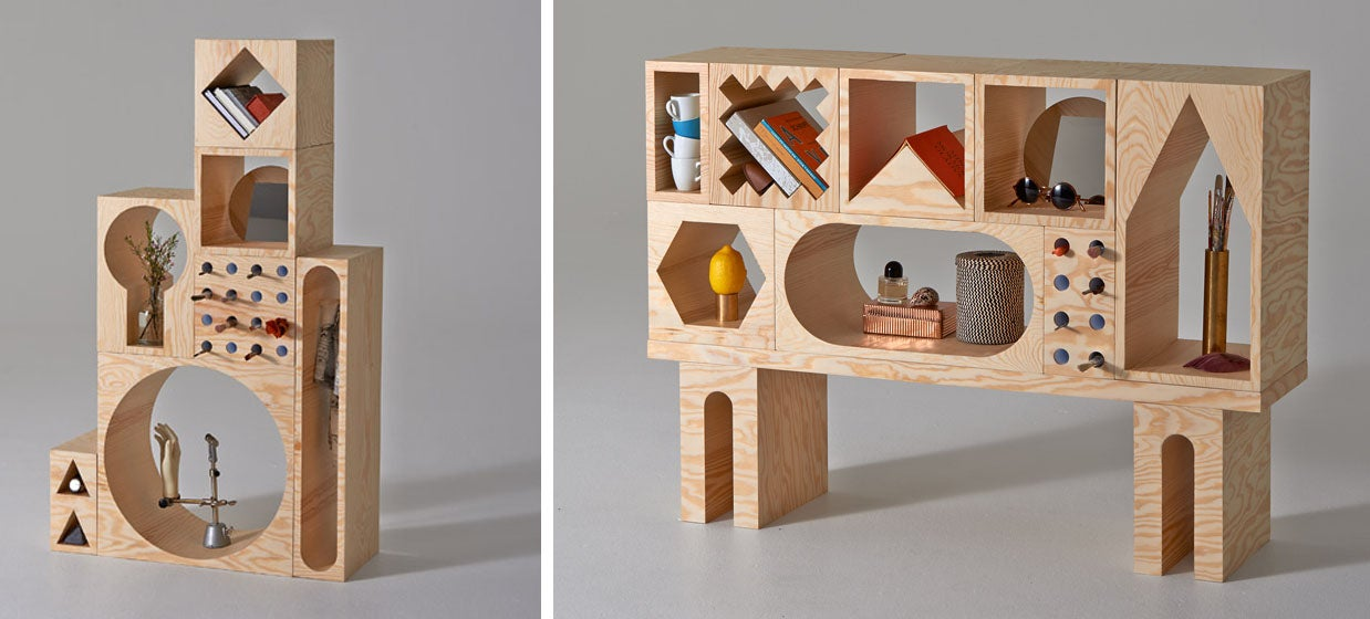 Men Toys Grown Ups : These shelves are like a shape sorter toy for grown ups