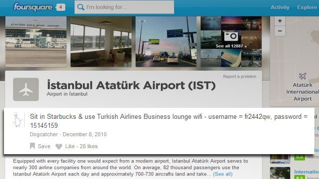 Get Free Airport Wi-Fi with Foursquare