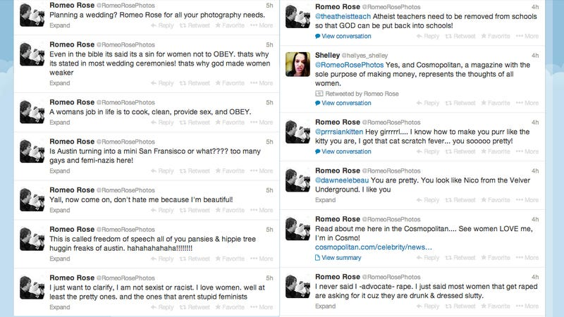 Romeo Rose Is Throwing a Racist, Pro-Rape Tantrum on Twitter Right Now