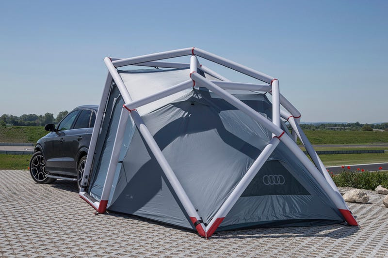 Double The Size Of Your Audi Q3 With This Space-Age Inflatable Tent