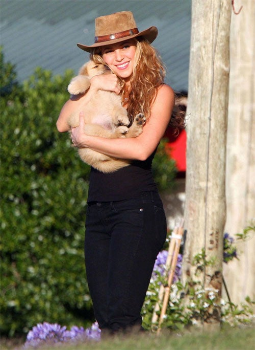 No Fair: Shakira Gets Snuggles In South American Summer