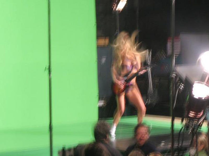 First Peek At New Lingerie Model In New Guitar Hero Commercial