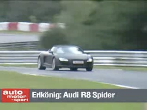 Hear The 2010 Audi R8 Spyder's V10 Scream Around The Nürburgring