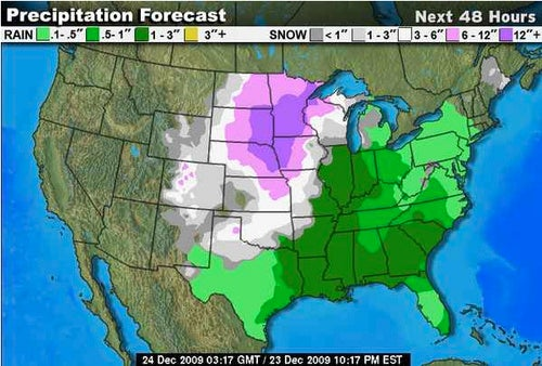 Winter Storm Girding Nation's Midsection Like Belt Made of Shit