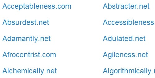 LastWordsLeft Lists the Remaining Single-Word Domains
