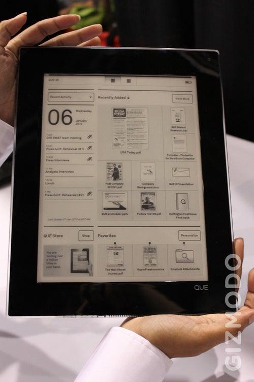 Plastic Logic Planning Color E-Reader Display For 2012