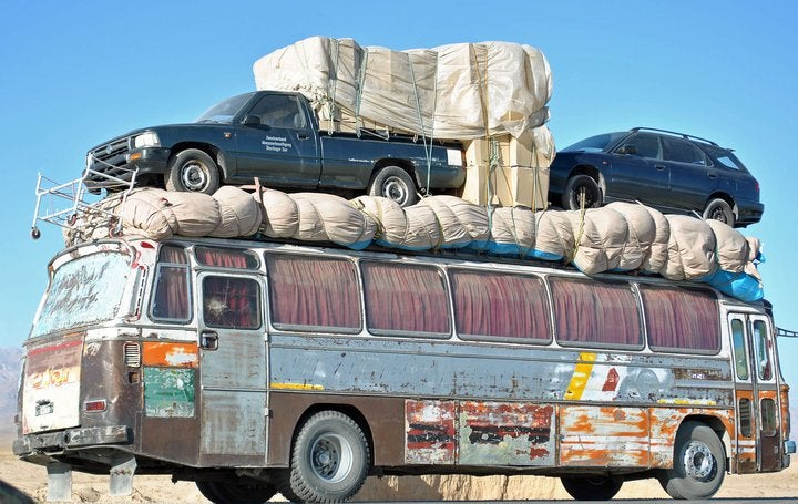 This is how cars are transported in Afghanistan