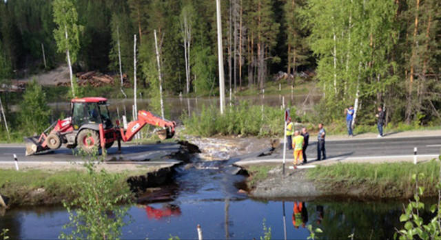 Beaver Dam Causes Russian Road to Collapse