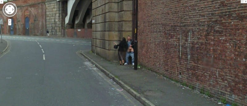 Google Streetview Captures Public Handjob in Manchester, England