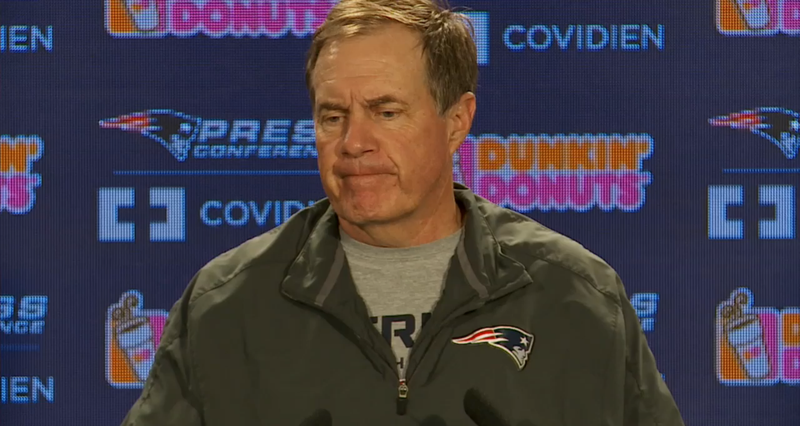 A Scene From A Bill Belichick Press Conference
