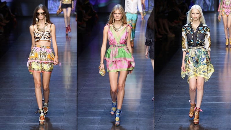 If You Like Loud, Busy Scarves, You'll Love D&G Spring 2012