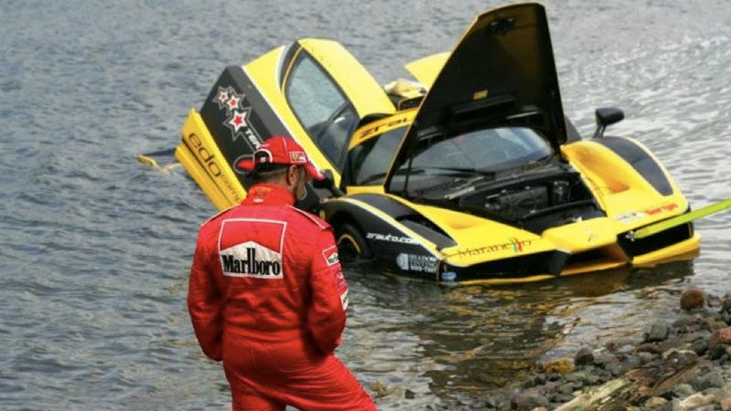 First photo of $1.5 million Ferrari Enzo crashing into the ocean