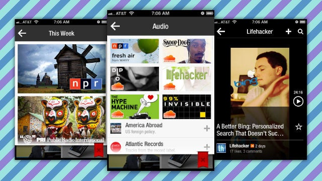 Flipboard Updates with Background Audio Player, Gallery, and Accessibility Features