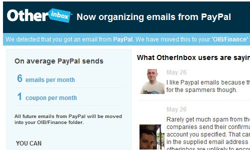 OtherInbox Batches Your Unimportant Mail Inside Your Gmail or Yahoo Inbox