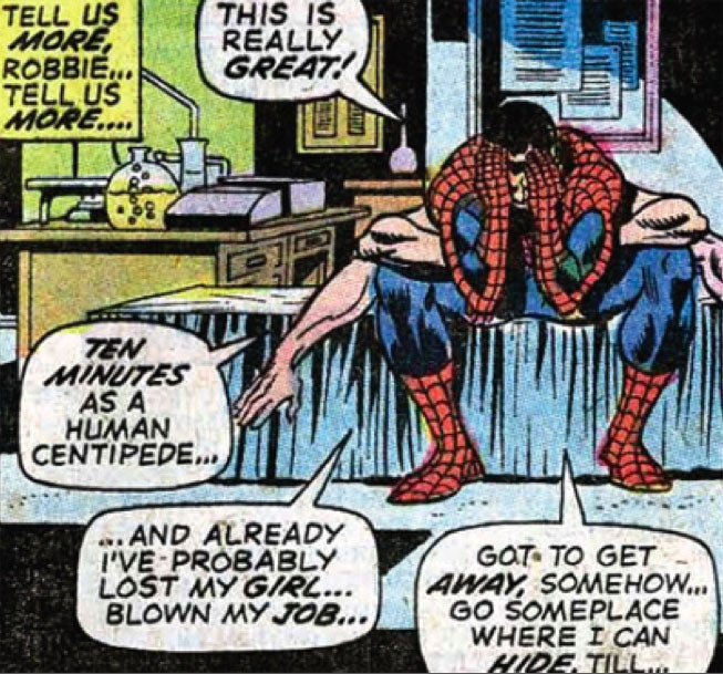 "Remember that time Spider-Man nicknamed himself ""The Human Centipede?"""