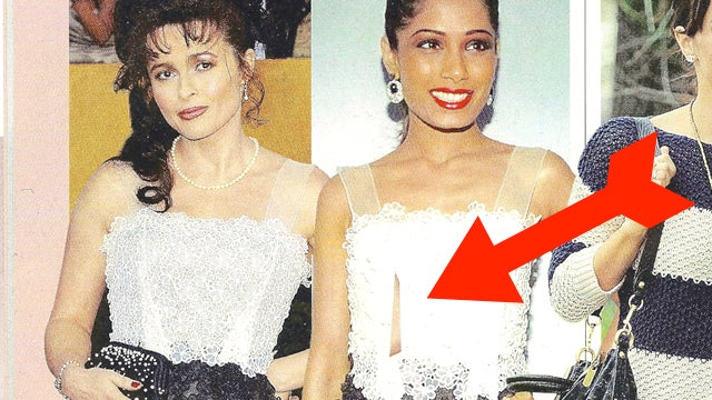 Helena Bonham Carter's Elbow Stabs Freida Pinto Through The Chest