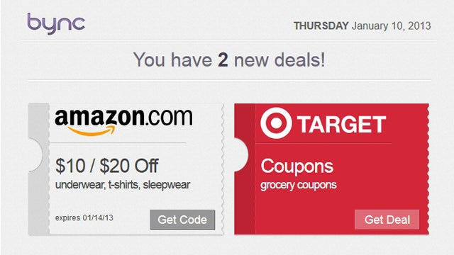 Bync Notifies You of Deals and Coupons at Your Most Visited Stores