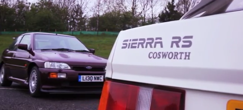 Go Back In Time With The Incredible Ford Sierra RS and Escort Cosworth