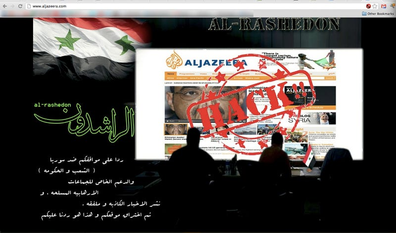 Al-Jazeera Gets the Crap Hacked Out of It (Updated)