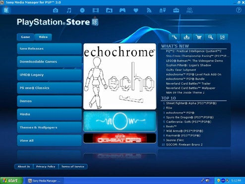 New PSP Media Manager Integrates With the Playstation Store
