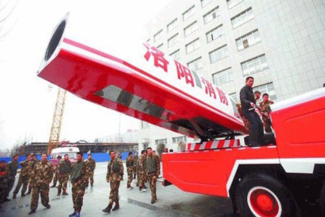 Behold the Awesome Force of China's Jet-Powered Water Cannon