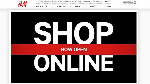 H&m's Online Shop is Live