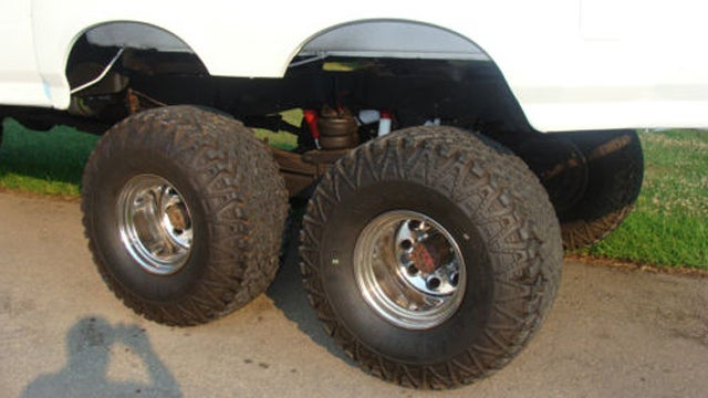 Custom 6x6 Ford truck is almost as ridiculous as it is massive