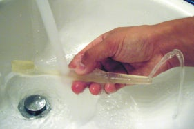 Brush & Rinse Toothbrush Creates Mini Water Fountain