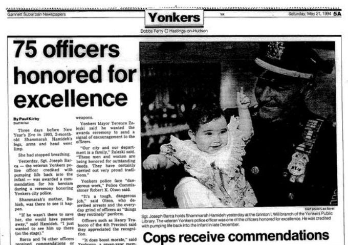 Cop Saves Baby's Life, 20 Years Later He Attends Her Wedding