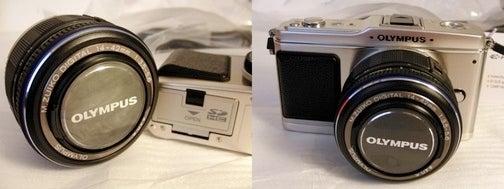 Retrolicious Olympus E-P1 Micro Four Thirds Camera Unboxed, Goosed in UK