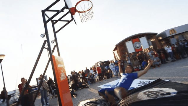 Video Montage Of Real People Pulling Off NBA Street-Style Dunks